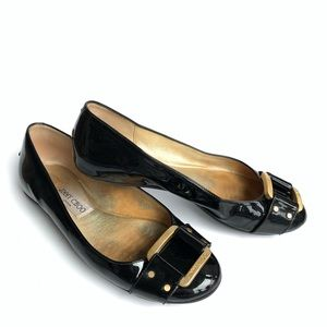 Jimmy Choo Patent Leather Flats